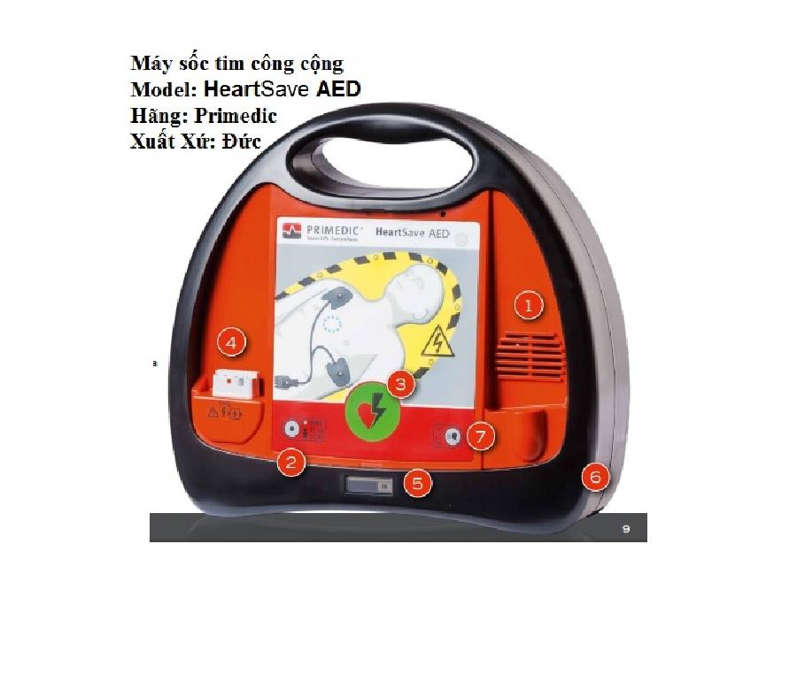 Máy sốc tim công cộng HeartSave AED -Đức